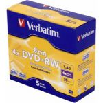 Verbatim ����� DVD+RW 1,46Gb 4x 8cm Jewel Case (5��) 43565