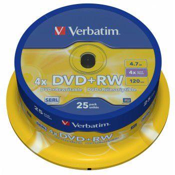 Verbatim ���� DVD+RW 4.7Gb 4x Cake Box (25��) 43489