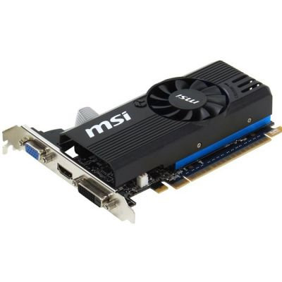 ���������� MSI PCI-E nVidia GeForce GT 730 1024Mb 64bit GDDR5 1006/5000 DVIx1/HDMIx1/CRTx1/HDCP Ret N730K-1GD5LP/OC