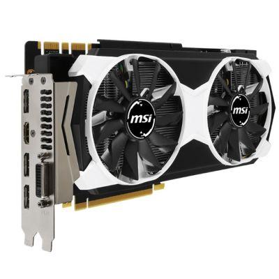 ���������� MSI nVidia GeForce GTX 980TI 6144Mb 384bit GDDR5 1102/7010 DVIx1/HDMIx1/DPx3/HDCP Ret GTX 980TI 6GD5T OC