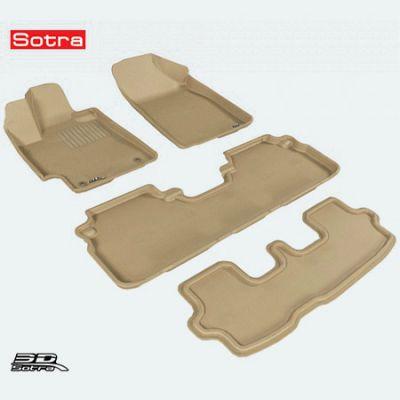 Sotra Коврики салона текст.Toyota Highlander 2006->/ 2010-> (не гибрид) 7-местн. LINER 3D Lux с бортиком бежевые ST 74-00351