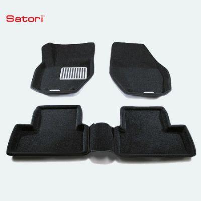 Satori Коврики салона текст.Volvo XC90 2006-> Satori с бортиком черные (с металлическим подпятником) SI 05-00170