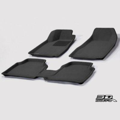 Sotra Коврики салона текст.Kia Sportage III 2014-> LINER 3D Lux с бортиком черные ST 74-00556