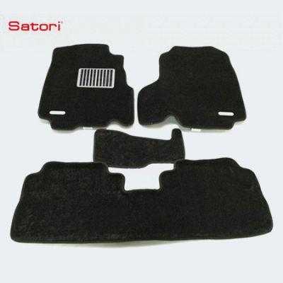 Satori Коврики салона текст.Honda CR-V III 2007-> Satori с бортиком черные (с металлическим подпятником) SI 05-00101