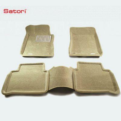 Satori Коврики салона текст.MB W212 (E-Class) 2009-> Satori с бортиком бежевые (с металлическим подпятником) SI 05-00139