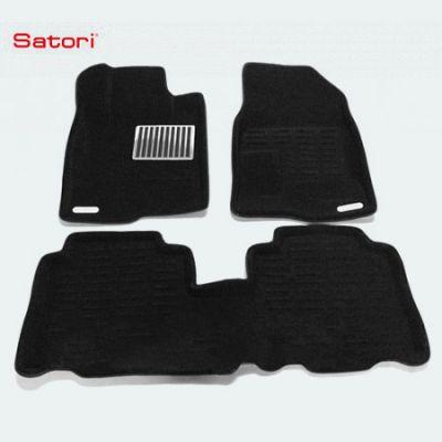 Satori Коврики салона текст.Chevrolet Captiva 2006-> Satori с бортиком черные (с металлическим подпятником) SI 05-00060