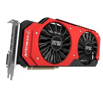 Видеокарта Palit PCI-E PA-GTX980 SUPER JETSTREAM 4G nVidia GeForce GTX 980 4096Mb 256bit GDDR5 1127/7000 DVIx1/mDVIx1/mDPx3/HDCP Ret NE5X980014G2-2042J