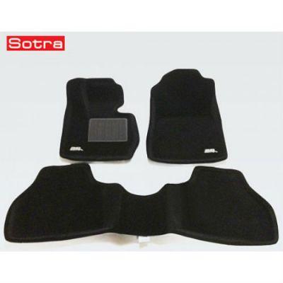 Sotra Коврики салона текст.BMW X3 F25 2011-> LINER 3D VIP с бортиком черные ST 73-00081