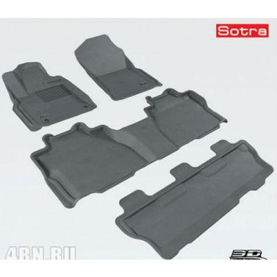 Sotra Коврики салона текст.Toyota Sequoia II 2012-> LINER 3D Lux с бортиком серые ST 74-00535