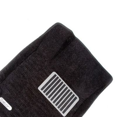 Pradar Коврики салона текст.Nissan Qashqai 2007-2013 3D Pradar с бортиком черные (с металлическим подпятником) SI 09-00040
