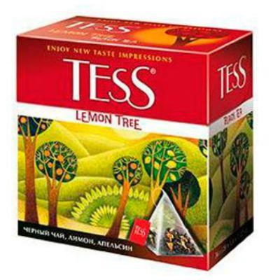 Чай TESS Лемон Три (1,8гх100п) чай пирам.черн.с доб.ХРК 1039-05