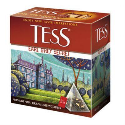 Чай TESS Эрл Грей Секрет (2гх100п) чай пирам.черн.с доб.ХРК 1037-05