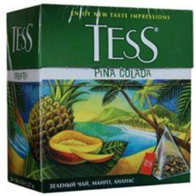 Чай TESS Пина Колада (1,8гх100п) чай пирам.зел.с доб.ХРК 1044-05