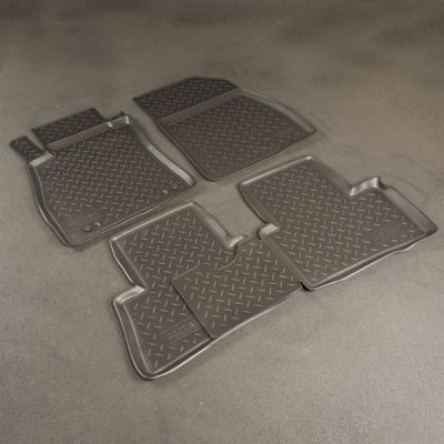Norplast Коврики салона Mitsubishi ASX 2010-> с бортиками полиуретановые черные NP PO-59-05
