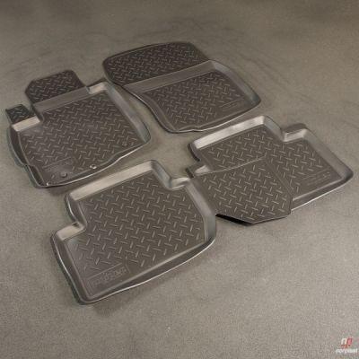 Norplast Коврики салона Peugeot 4007 2008-> с бортиками полиуретановые черные NP PO-64-50