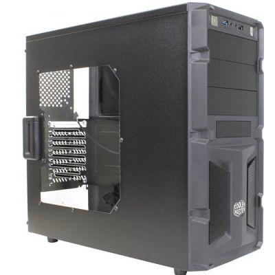 Корпус Cooler Master Black ATX 500W (24+2x4пин) с окном RC-K350-KWP500