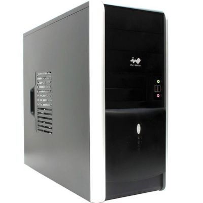 Корпус InWin Miditower EAR007 Black-Silver ATX 450W (24+2x4+6пин) 6115720