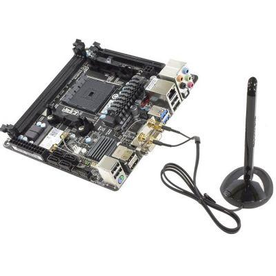 ����������� ����� Gigabyte SocketFM2+ < AMD A88X > PCI-E DVI+2xHDMI GbLAN+WiFi+BT SATA RAID Mini-ITX 2DDR-III (RTL) GA-F2A88XN-WIFI r3.0