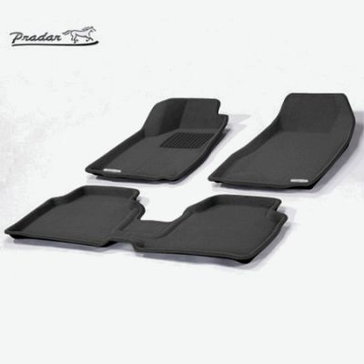 Pradar Коврики салона текст.Renault Logan 3D Pradar с бортиком черные SI 07-00113