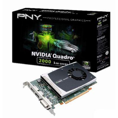 Видеокарта PNY 1Gb PCI-E nVidia Quadro K2000 GDDR5, 192 bit, DVI, 2*DP, Retail VCQ2000-PB