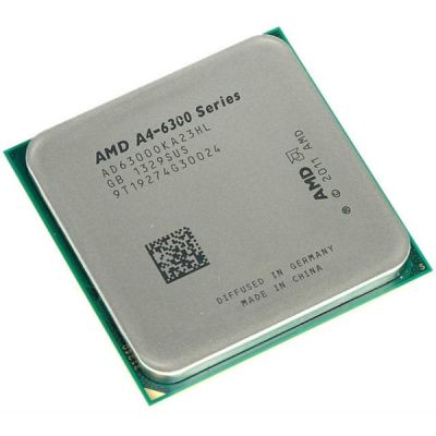 Процессор AMD A4 X2 6300 Socket-FM2 (3.7/5000/1Mb/Radeon HD 8370D) OEM AD6300OKA23HL