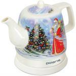 Электрический чайник Polaris белый /дед Мороз PWK1299CCR