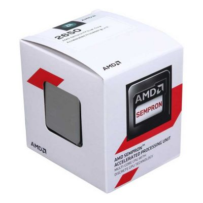 Процессор AMD SEMPRON 2650 BOX 1.45 GHz / 2core / SVGA RADEON R3 / 1 Mb / 25W Socket AM1 SD2650JAHMBOX