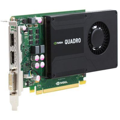 PNY 2Gb PCI-E nVidia Quadro K2000 GDDR5, 128 bit, DVI, 2*DP, DVI, Retail
