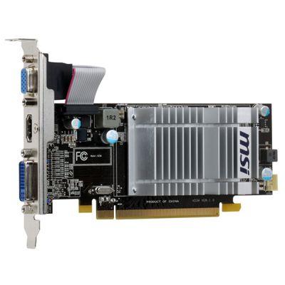 ���������� MSI 1Gb PCI-E HD5450, GDDR3, 64 bit, HDCP, VGA, DVI, HDMI, Low Profile R5450-MD1GD3H/LP
