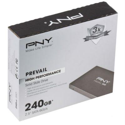 """SSD-диск PNY SSD 2.5"""" 240 Gb SATA III Prevail (SSD9SC240GCDA-PB)"""