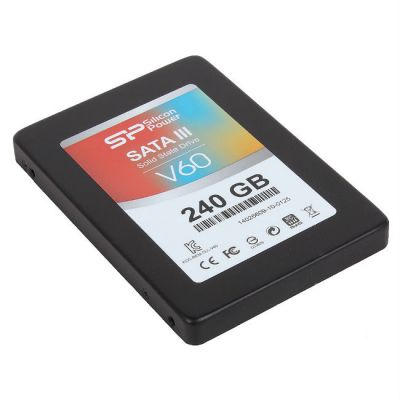 "������������� ���������� Silicon Power SSD 2.5"" 240 Gb SATA III V60 + Desktop kit (SP240GBSS3V60S25)"