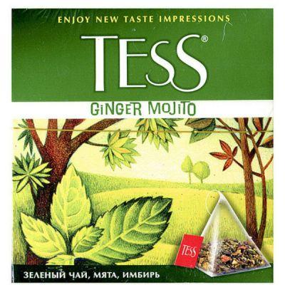 Чай TESS Джинджер Мохито (1,8г х100п) чай пирам.зел.с доб.ХРК 1043-05
