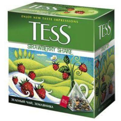 Чай TESS Строуберри Шейк (2г х100п) чай пирам.зел.с доб.ХРК 1045-05