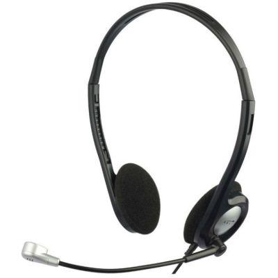 Наушники с микрофоном Oklick черный/серебристый (1.8м) HS-M142V