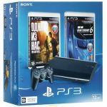 "������� ��������� Sony PlayStation 3 Super Slim 12 �� + 2 ���� ""���� �� ���"" ,""Gran Turismo 6"" PS719888031"