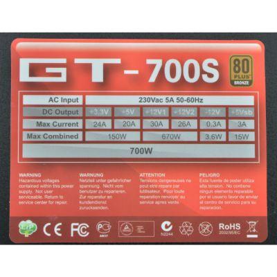 Блок питания Aerocool 700W Retail GT-700S