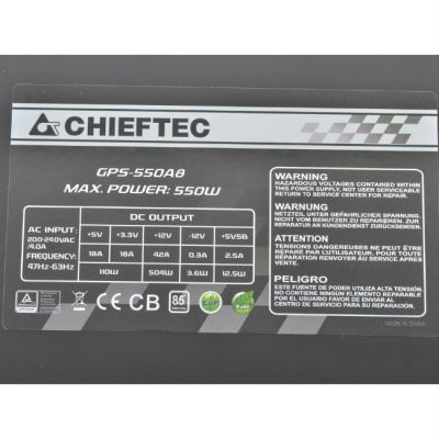 ���� ������� Chieftec 550W Retail GPS-550A8 [Smart]