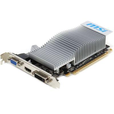 ���������� MSI PCI-E nVidia GeForce 210 1024Mb 64bit DDR3 589/500/HDMIx1/CRTx1/HDCP Ret N210-TC1GD3H/LP