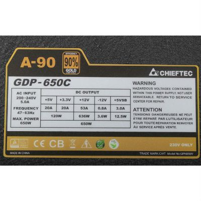 ���� ������� Chieftec 650W Retail GDP-650C [�-90]