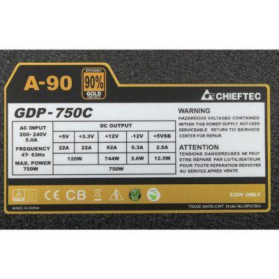 Блок питания Chieftec 750W Retail GDP-750C [А-90]