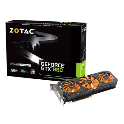 ���������� Zotac 4Gb PCI-E GTX980 +Splinter Cell Compilation, GDDR5, 256 bit, HDCP, DVI, HDMI, 3*DP, Retail ZT-90206-10P