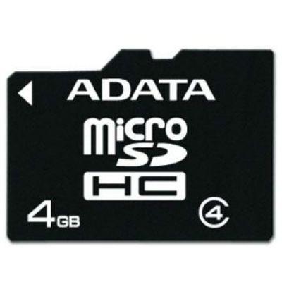 ����� ������ ADATA 4GB MicroSDHC class4 AUSDH4GCL4-R
