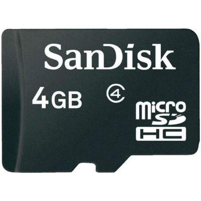 Карта памяти SanDisk 4GB MicroSDHC class4 SDSDQM-004G-B35