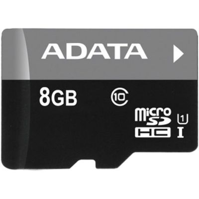����� ������ ADATA 8GB MicroSDHC class10 UHS-1 AUSDH8GUICL10-R