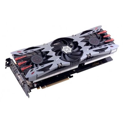 Видеокарта Inno3D 2Gb PCI-E GTX960 (i-Chill) X3 AIR BOSS ULTRA c CUDA, GDDR5, 256bit, HDCP, DVI, HDMI, 3*DP, 3*Fan, Retail C960-2SDN-E5CNX