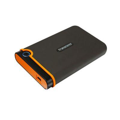 """Внешний жесткий диск Transcend 1 Tb StoreJet 25M2, 2.5"""", USB 2.0, резиновый противоударный, Серый TS1TSJ25M2"""