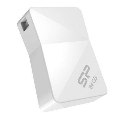 Флешка Silicon Power 4GB T08, USB 2.0, Белый SP004GBUF2T08V1W