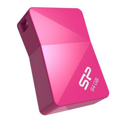 Флешка Silicon Power 4GB T08, USB 2.0, Розовый SP004GBUF2T08V1H