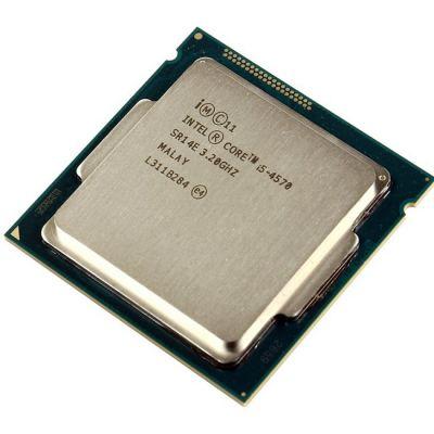 ��������� Intel Core i5-4570 3.2 GHz / 4core / SVGA HD Graphics 4600 / 1+6Mb / 84W / 5 GT / s LGA1150 OEM CM8064601464707S R14E