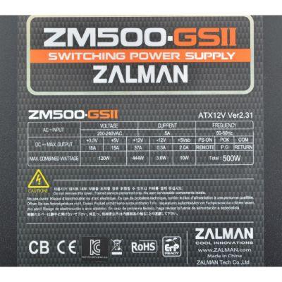 Блок питания Zalman 500W ZM500-GS II v2.31